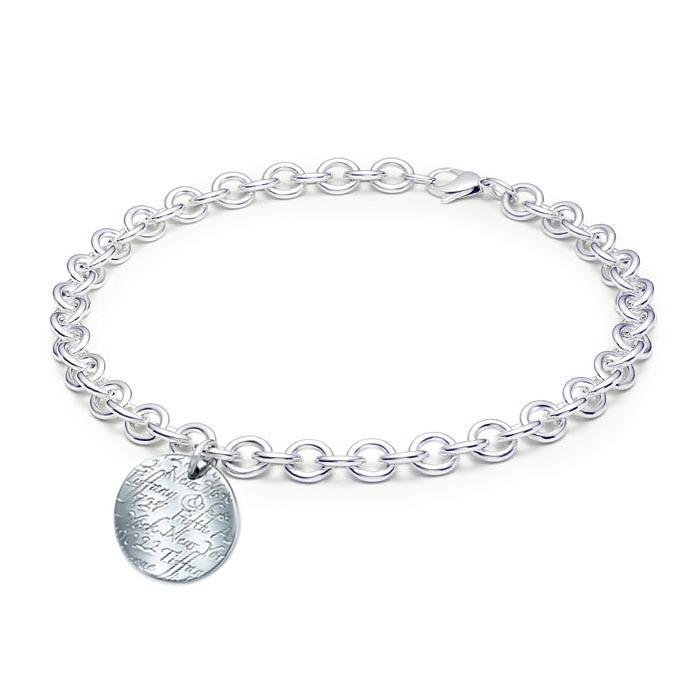 Tiffany Notes Round Tag Necklace