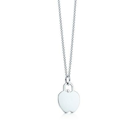 """Tiffany Apple Tag Pendant on an 16"""" chain"""