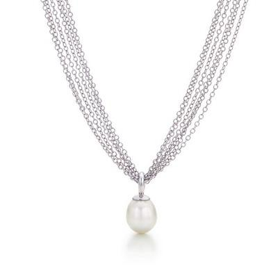 Tiffany Multi-Chain Necklace With South Sea Perl