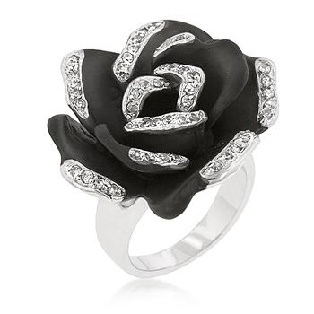 FELUCCI Onyx Bloom Cocktail Ring