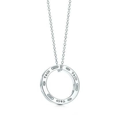 Tiffany 1837 circle pendant in sterling silver