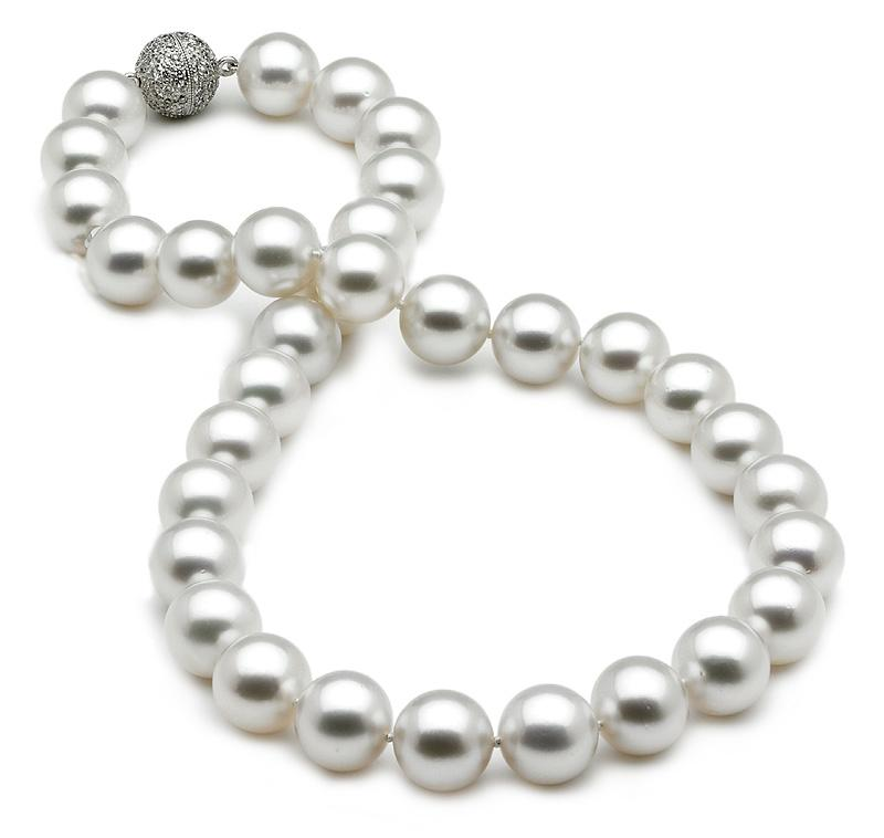11-12mm Australian White South Sea Cultured Pearl Necklace