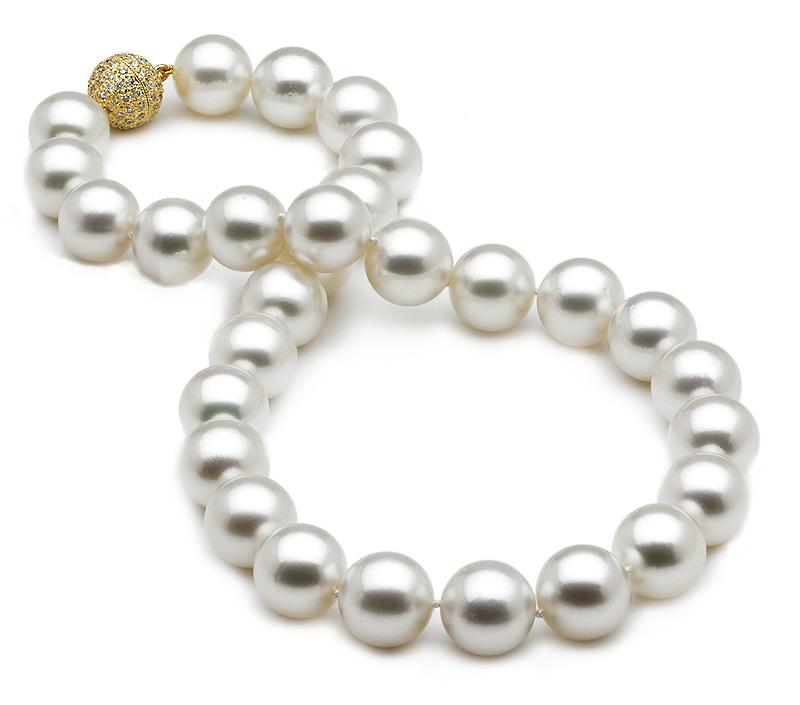 13-14mm Australian White South Sea Cultured Pearl Necklace